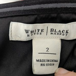White House Black Market Dresses - White House Black Market Black Strapless Dress